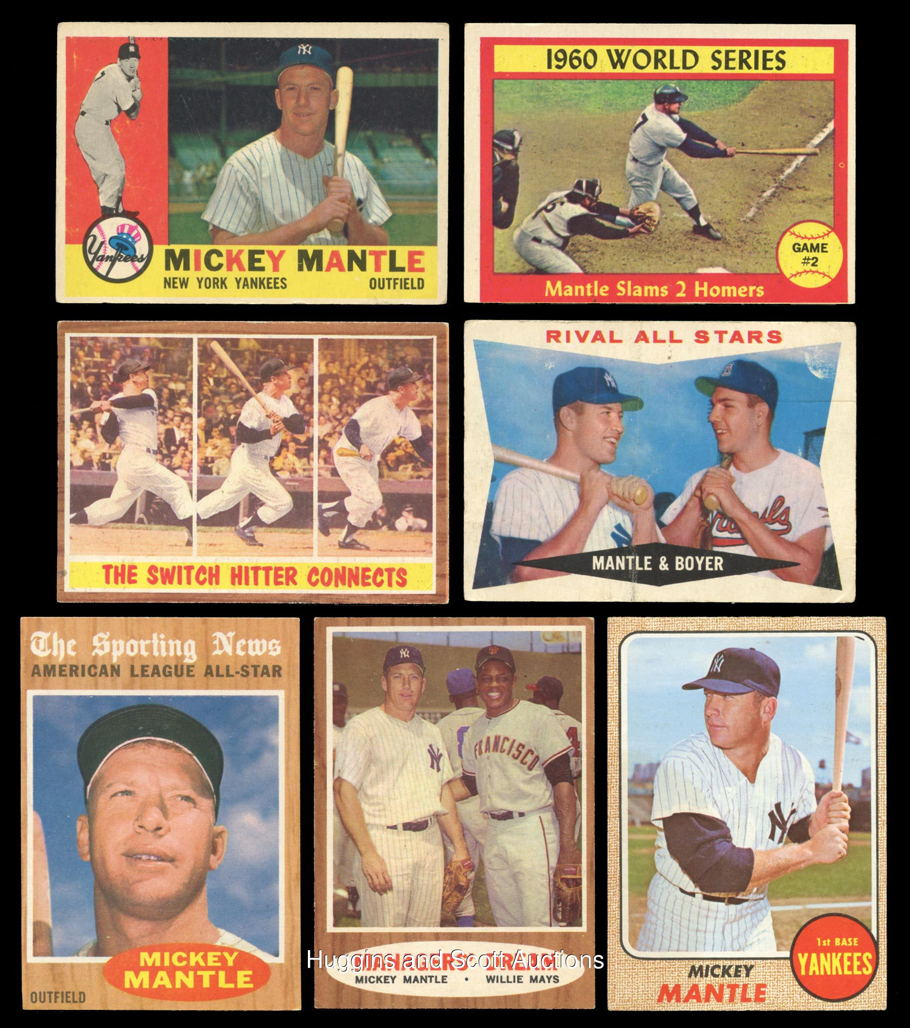 1957 1969 Topps Mickey Mantle Group Of 29 Cards With Inserts