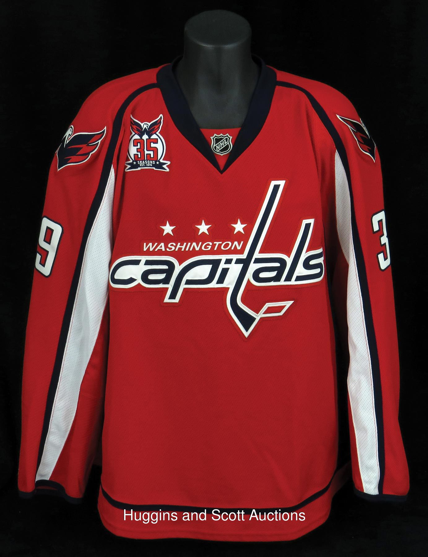 size 40 d0359 172ab March 6, 2010 Dave Steckel Game Used Washington Capitals ...